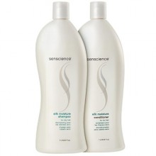 Senscience Silk Moisture Shampoo 1000ml + Conditioner 1000ml