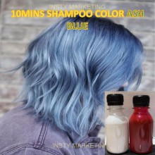 Direct ASHBLUE HairColor Shampoo(10minutes)100ml+Free Bleach&Peroxide(100ml)