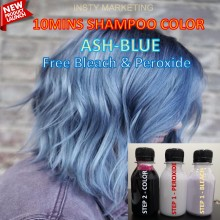Direct ASHBLUE HairColor Kit(10minutes)100ml+Free Bleach&Peroxide(100ml)