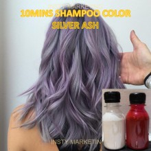 Direct SilverASH HairColor Shampoo(10minutes)100ml+Free Bleach&Peroxide(100ml)