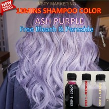 Direct LavenderPurple HairColor Kit(10minutes)100ml+Free Bleach&Peroxide(100ml)