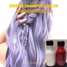 Direct LavenderPurple HairColor Shampoo(10minutes)100ml+Free Bleach&Peroxide(100ml)