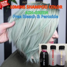 DIRECT ASH-GREEN HAIRCOLOR KIT(10MINUTES)100ML+FREE BLEACH&PEROXIDE(100ML)
