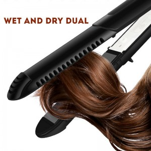(Imported)Professional 2-in-1 Hair Straightener+Curling Ceramic Iron Tool(Ready Stock)