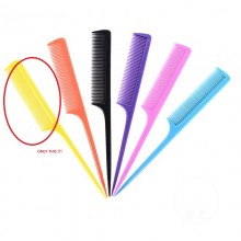 1 PC Hair Comb with Thin and Long Handle (Yellow)