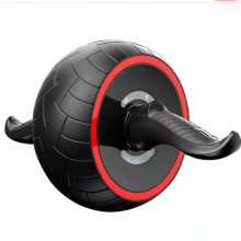 Abdominal Roller Wheel for Core Strength Training and Abnominal Workout with Easy Grip Handles (Red)