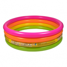 Intex Inflatable Summer Sunset Glow Baby Pool 4 Rings 168cm x 46cm
