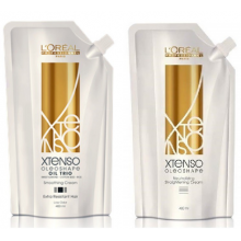 L'Oreal XTenso Oleo Shape OIl Trio Smoothing Cream (Extra Resistant Hair) 400ml + Neutralizing Cream 400ml