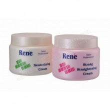 500ml Rene Hair Straightening Cream + Neutralizer Cream